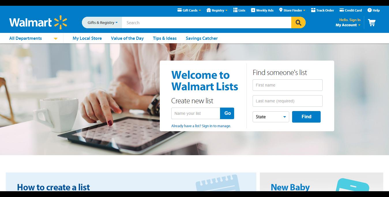 Create a List - Walmart.com