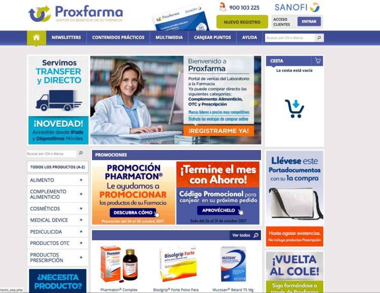 Venta online productos para farmacia